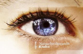 Hypnose Augendiagnose Naturheilpraxis Krohn Visitenkarte